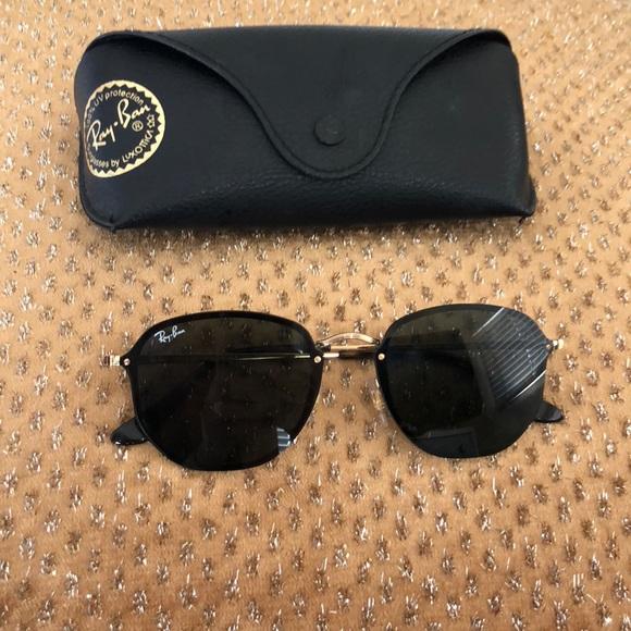 fcf5fd4f0d Ray-Ban Sunglasses BLAZE HEXAGONAL Black Gold
